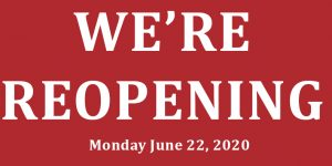 Reopening on June 22, 2020
